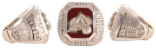 Avalanche 2001 staff ring