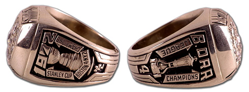 Boston 1961 NHL Stanley Cup ring - Sides