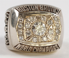Boston 1961 NHL Stanley Cup ring - Front B