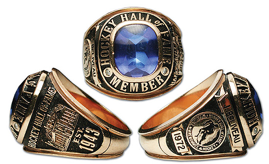 Beliveau Hall of Fame's induction ring